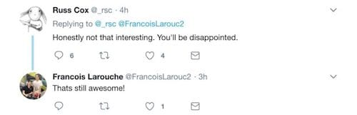 رد Russ Cox