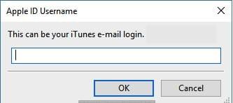 واجهة إدخال معلومات Apple ID