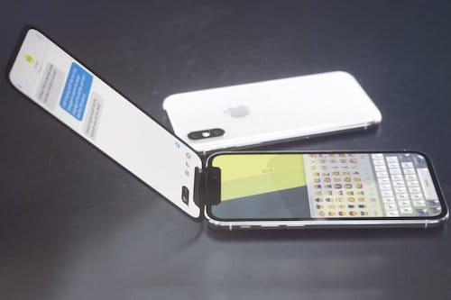 هاتف الايفون X القابل للطي