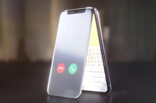 إتصال هاتفي على الايفون X القابل للطي