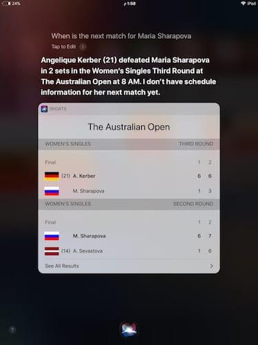 نتائج مباريات Sharapova