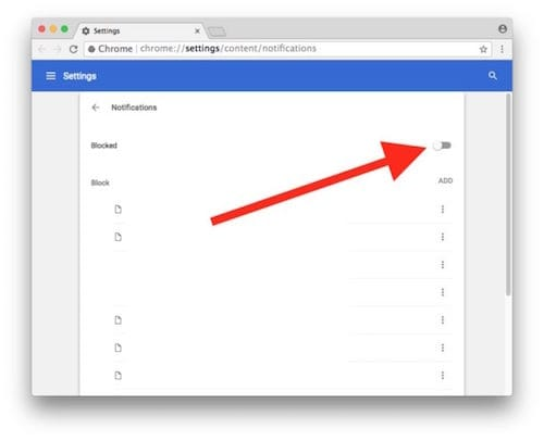 إيقاف طلبات إرسال الإشعارات على جوجل كروم