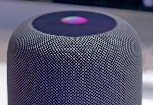 شعار المساعد الشخصي Siri على جهاز HomePod