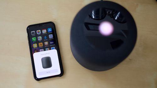 عملية ربط HomePod مع iPhone X