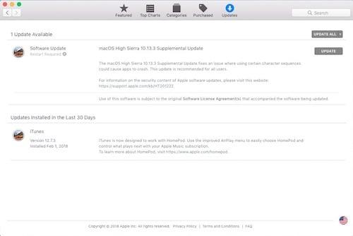 تحديث macOS 10.3.3