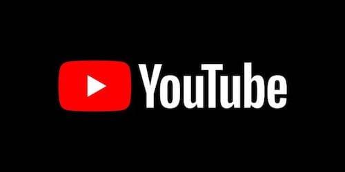 شعار اليوتوب باللون الأسود