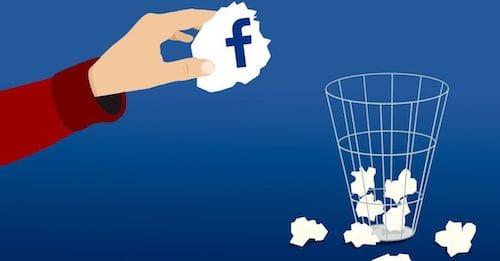 حذف الفيسبوك