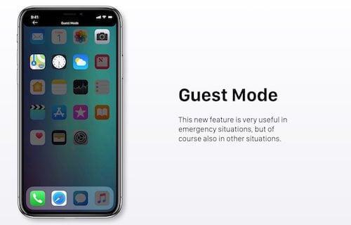 نمط الضيف على iOS 12