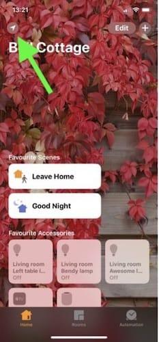 واجهة تطبيق المنزل Home