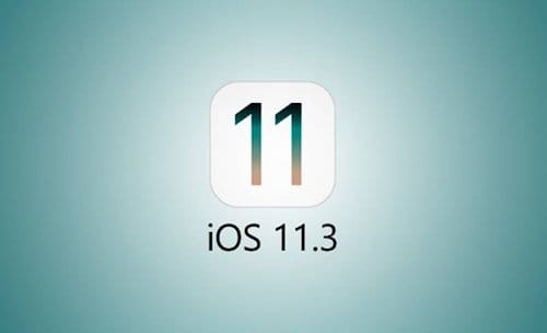 شعار تحديث iOS 11.3