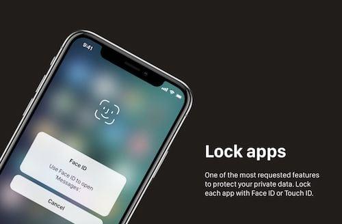 قفل التطبيقات بتقنية Face ID