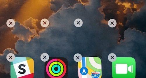 واجهة الشاشة الرئيسية للايفون