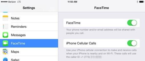 إعدادات FaceTime على الايباد