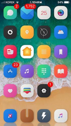 الشاشة الرئيسية لجهاز الايفون