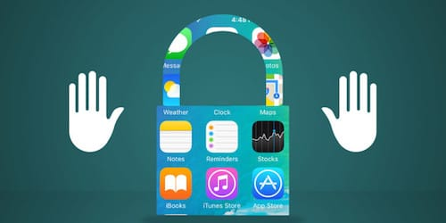 شعار الخصوصية على أيقونات نظام iOS