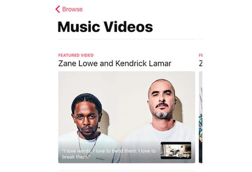 خدمة Music Videos