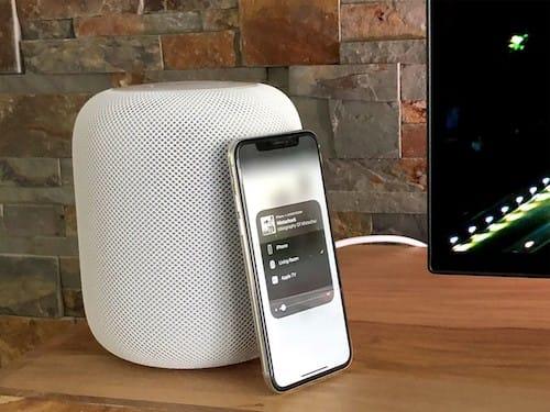 سماعات HomePod مع الايفون عشرة
