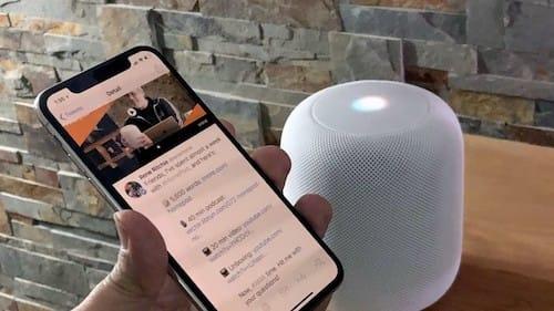 هاتف الايفون عشرة مع سماعات HomePod