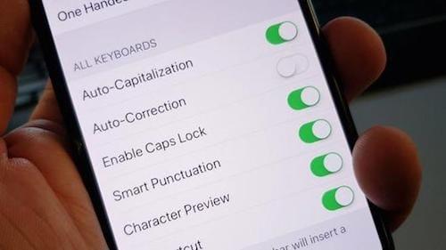 إعدادات نظام الـ iOS