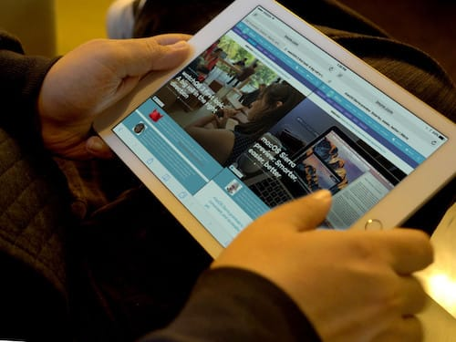 تقسيم الشاشة في متصفح سفاري على الايباد