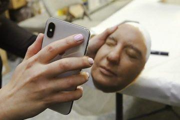 نظام الحماية بالتعرف على الوجه FaceID