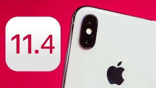هاتف الايفون عشرة و إصدار iOS 11.4