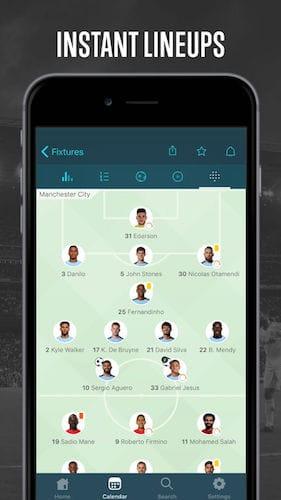 واجهة تطبيق Forza Football