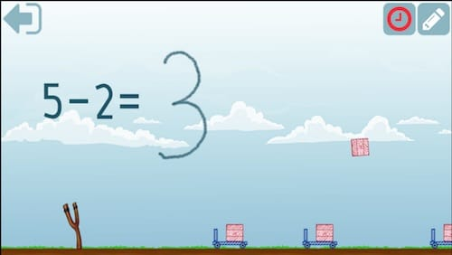 واجهة لعبة Subtraction Skill Builders