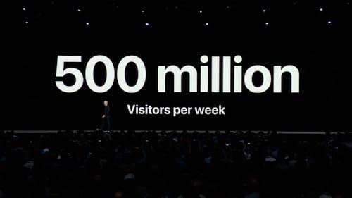 500 مليون زائر أسبوعيا لمتجر التطبيقات