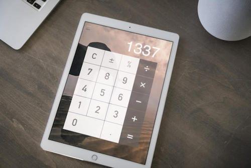 الآلة الحاسبة على الايباد