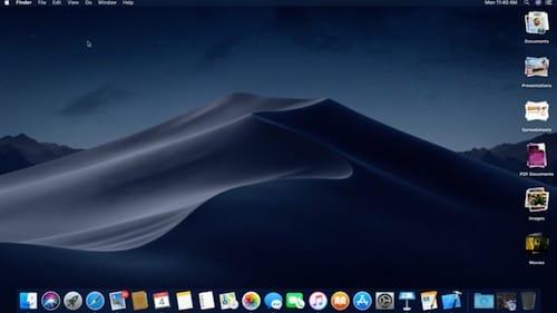 ترتيب الشاشة بميزة Desktop Stacks