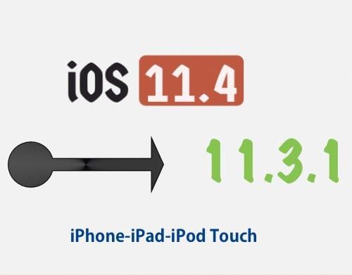 شعار العودة من iOS 11.4 إلى iOS 11.3.1