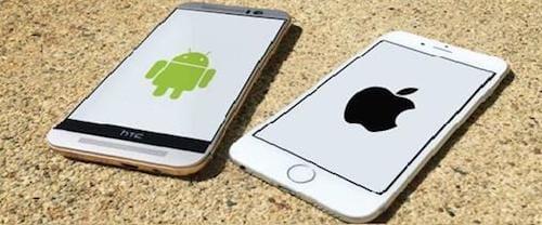 جهاز الايفون و HTC