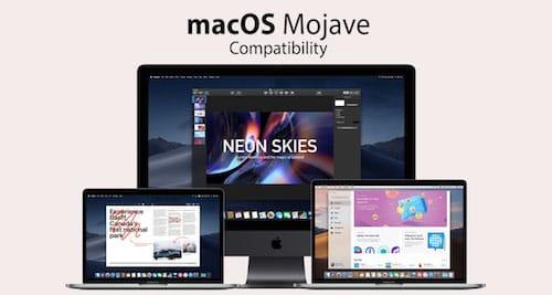 الأجهزة المتوافقة مع macOS Mojave