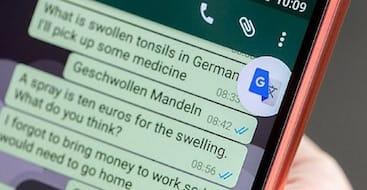 ميزة النقر للترجمة على تطبيق واتس اب