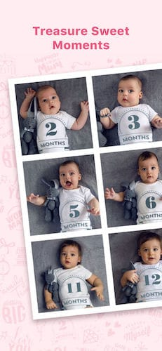 واجهة تطبيق Baby Pics - Photo Editor