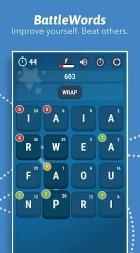 واجهة لعبة BattleWords Premium