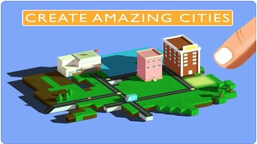 واجهة لعبة Blox 3D City Creator