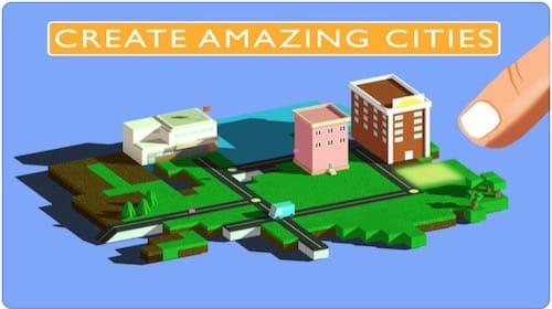 واجهة لعبة Blox 3D City Creator