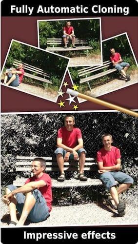 واجهة تطبيق ClonErase Camera - automatic photo manipulation