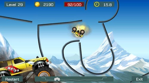 واجهة لعبة Monster Stunts: Extreme Stunt Truck Racing