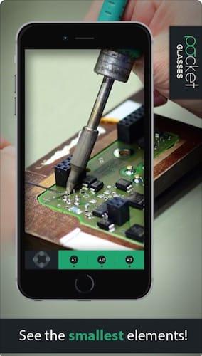 واجهة تطبيق Pocket Glasses PRO