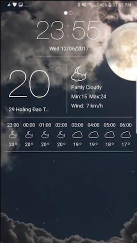 واجهة تطبيق Weather Forecast Pro
