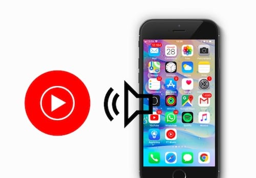 شعار الصوتيات و التشغيل على جهاز الايفون