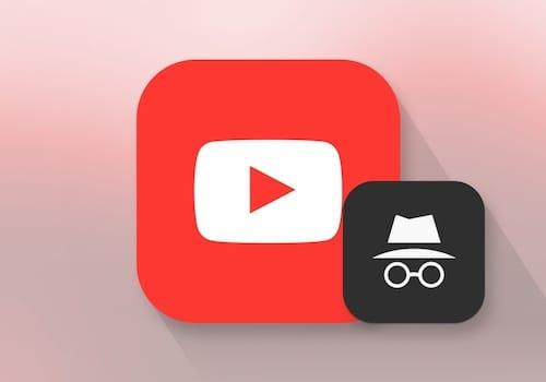 شعار الوضع الخفي على أيقونة اليوتوب