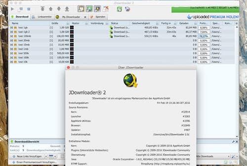 واجهة برنامج JDownloader