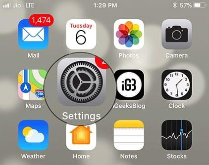 الواجهة الرئيسية لنظام iOS 12
