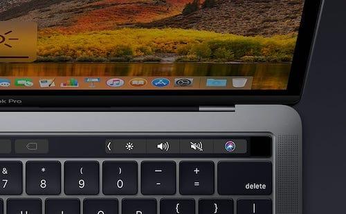 شريط اللمس على MacBook Pro