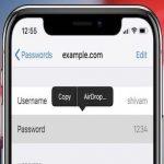 طريقة مشاركة كلمات المرور باستخدام AirDrop على iOS 12