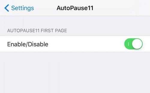 إعدادات أداة AutoPause11